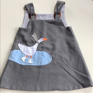 Vintage | Reversible Gray Goose Jumper | 4T